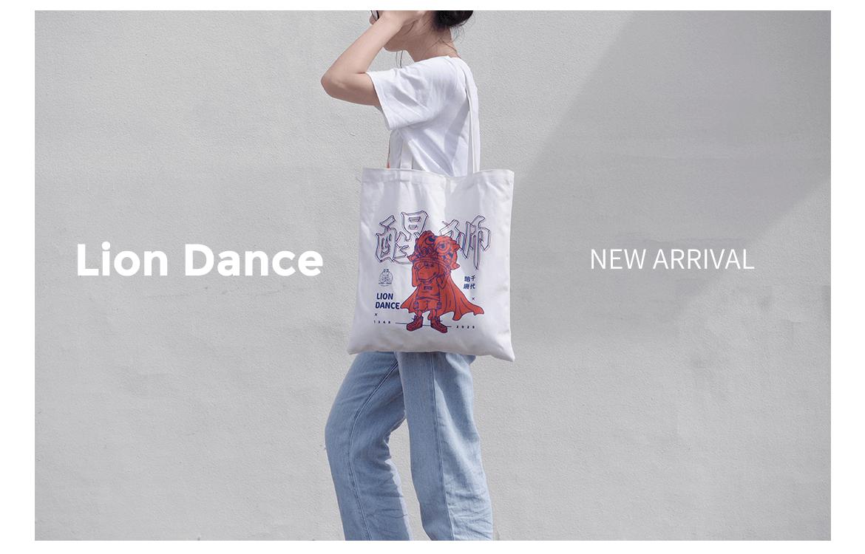 Lion Dance, Canvas Bag